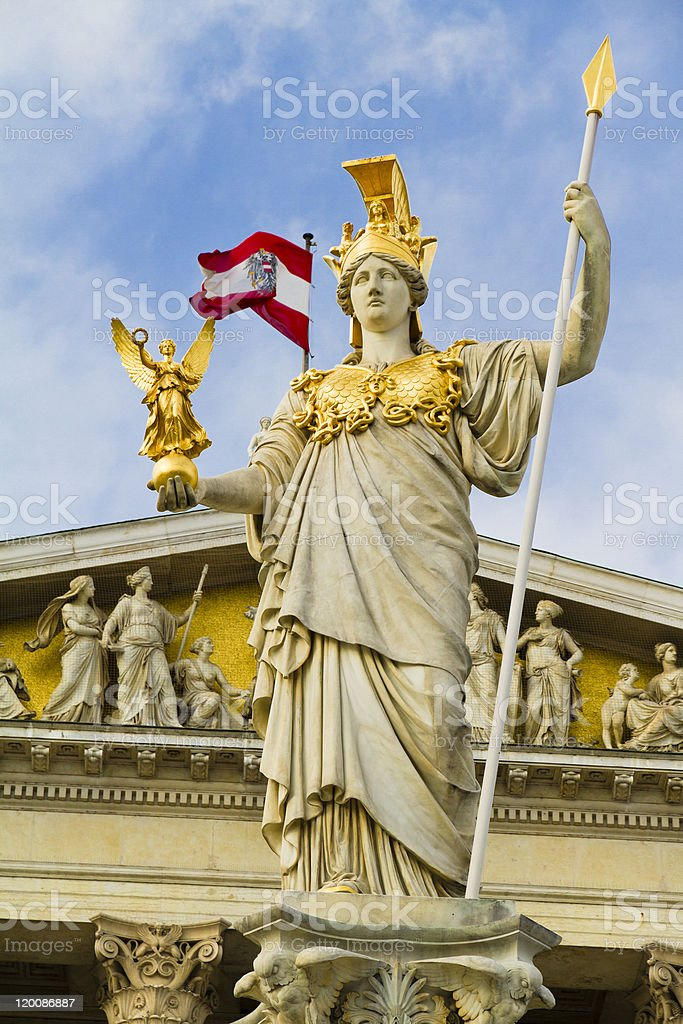 Athena Statue, Vienna stock photo