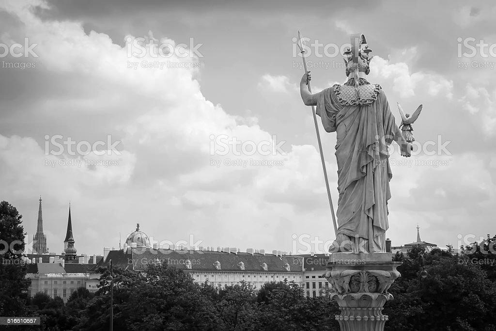Athena Statue, Vienna stock photo