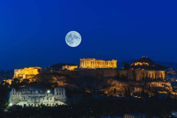 Athenian Acropolis Greece stock photo