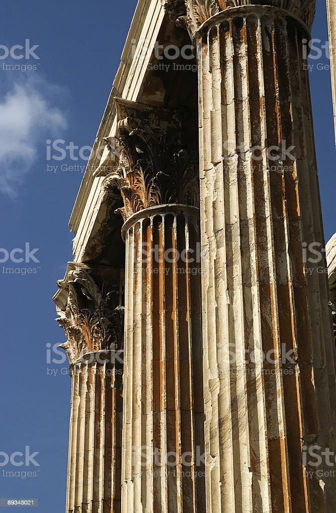 Athenian Columns stock photo