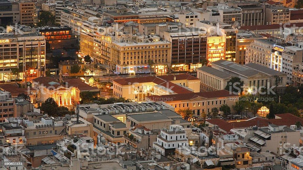 Athenian rooftops, Greece. royalty-free stock photo
