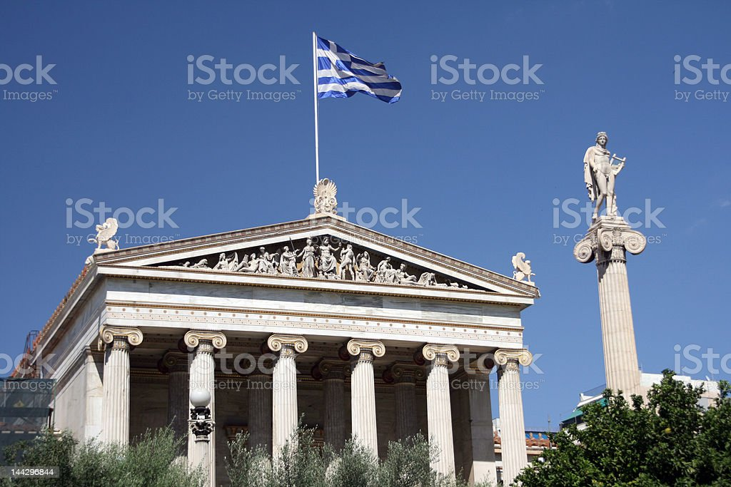 athens academy royalty-free stock photo