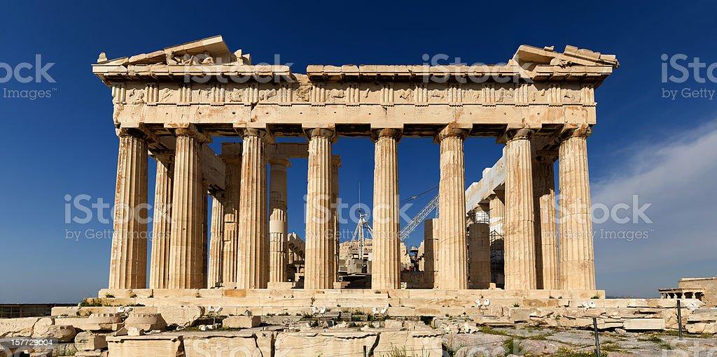 Athens Acropolis Parthenon perspective correct stock photo
