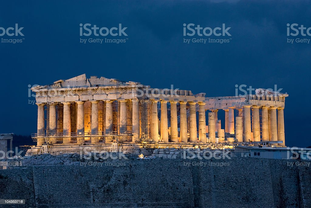 Athens Acropolis Parthenon stock photo