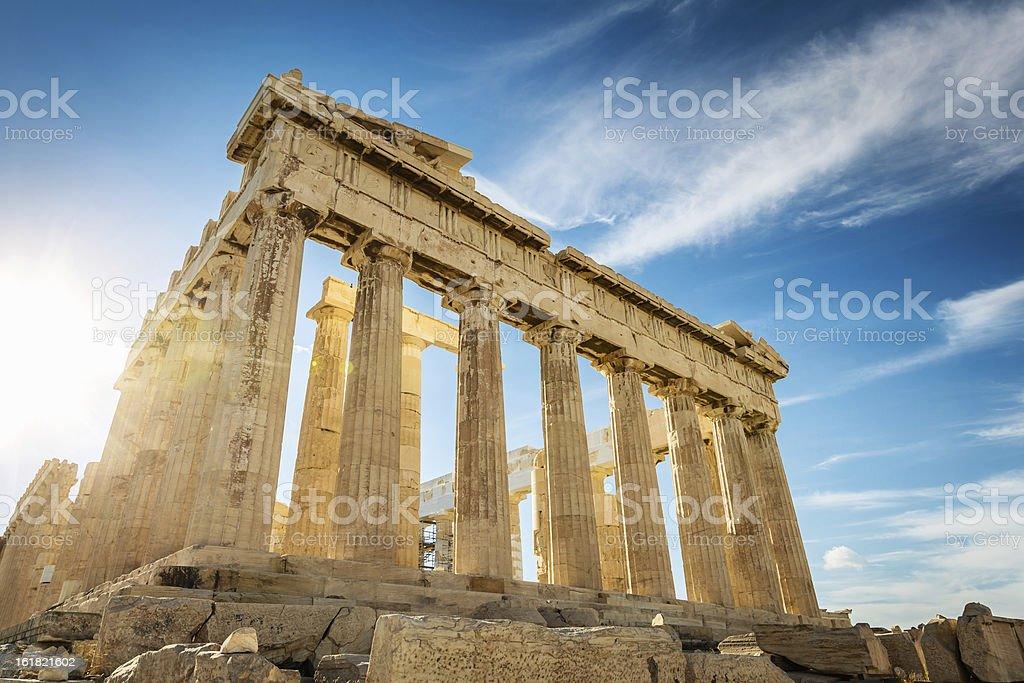 Athens Acropolis Parthenon Temple,Greece stock photo