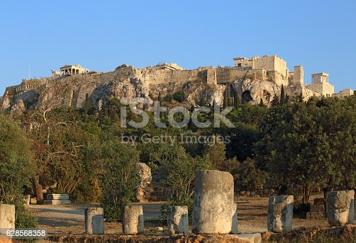 istock Athens Acropolis view from the ancient Agora 628568358