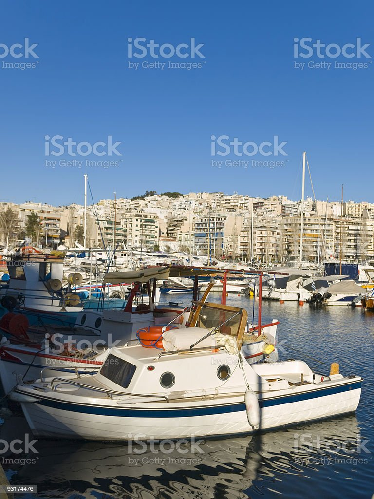 Athens Boat Harbour royalty-free stock photo
