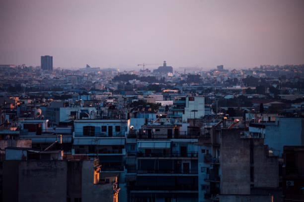 Athens city view, Greece stock photo
