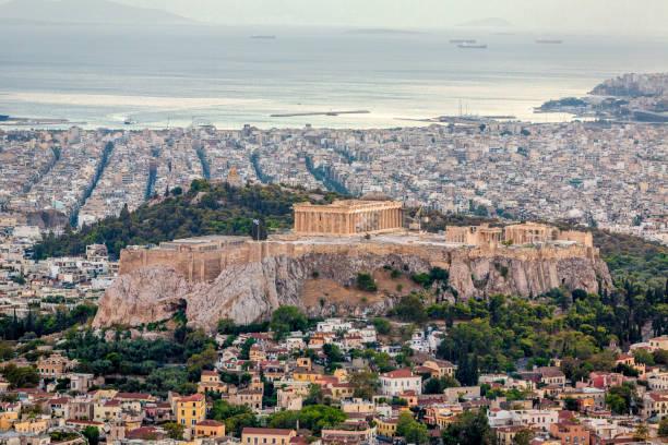 Cityscape Akropolis Athen – Foto