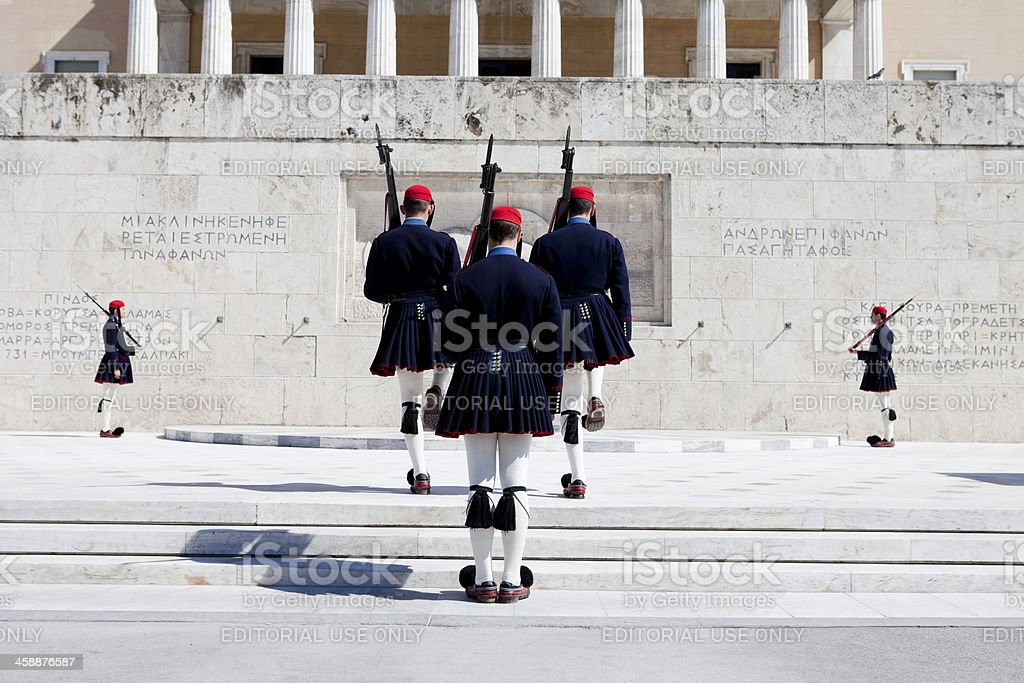 Athens Evzones Changing of the Guard royalty-free stock photo