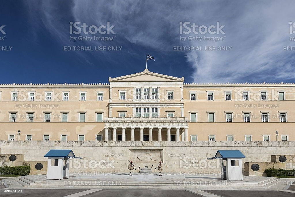 Athens Evzones, Changing of the Guard royalty-free stock photo