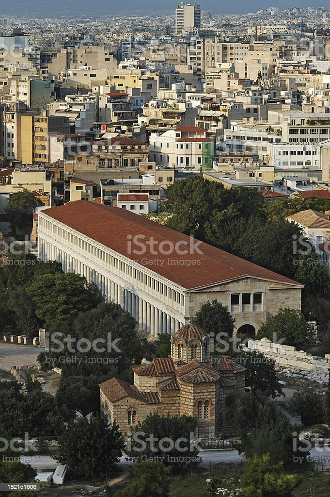 Athens from the Acropolis royalty-free stock photo