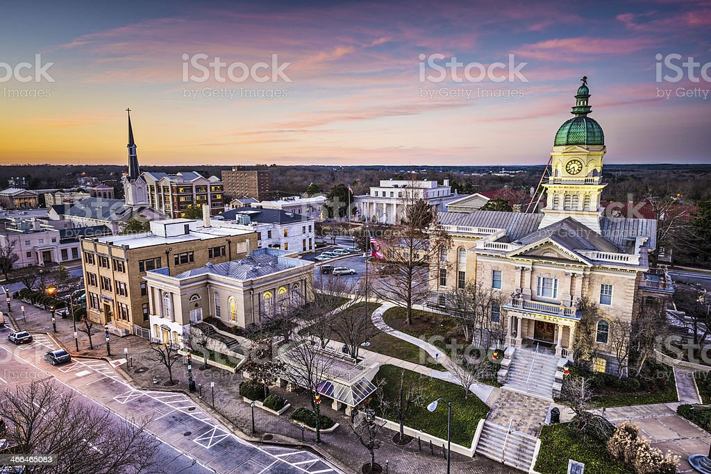 Athens Georgia Townscape stock photo