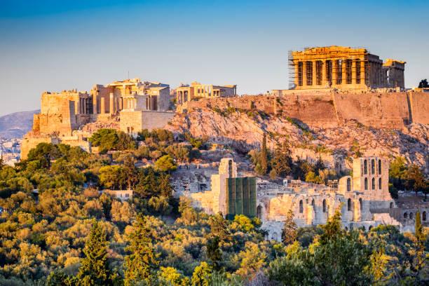 Athens, Greece, Acropolis and Parthenon Temple stock photo