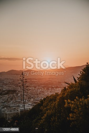 The city of Athens in Greece as seen from above