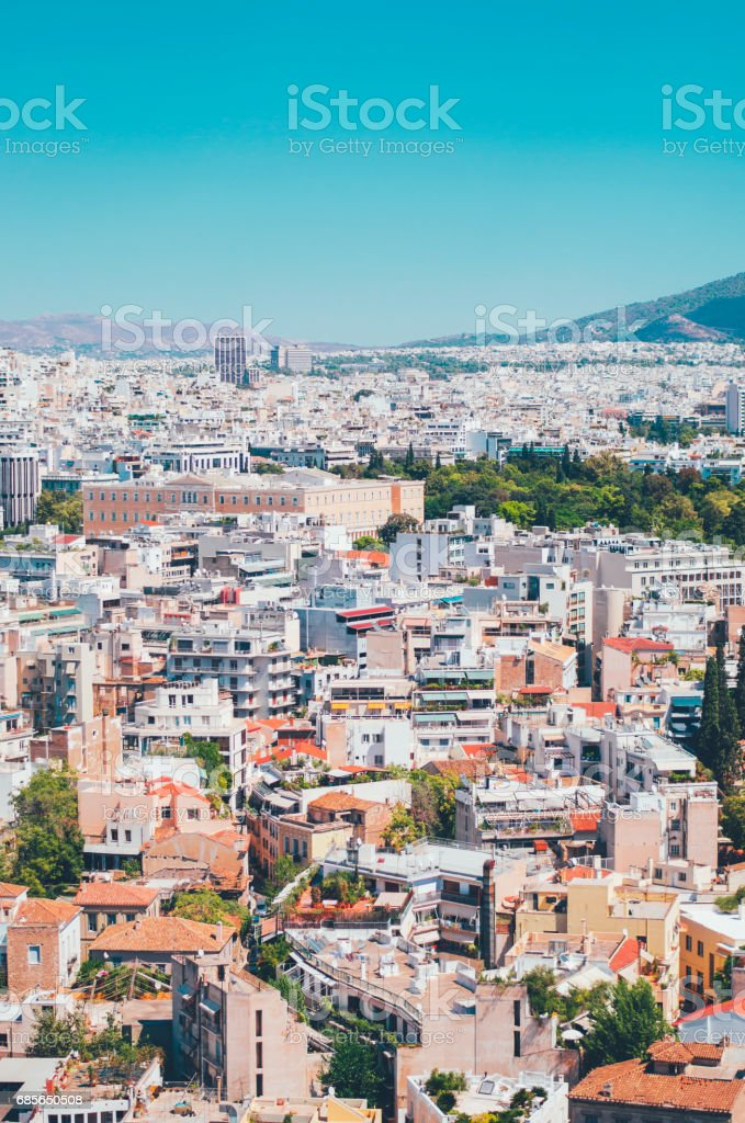 Athens, Greece, in summer royalty-free 스톡 사진