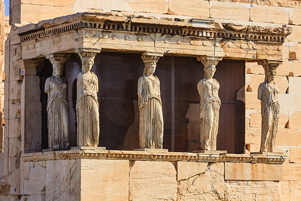 Athens, Greece - Karyatids Porch on the Acropolis stock photo