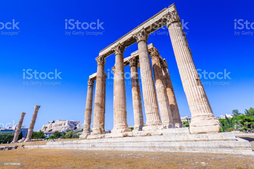 Athens, Greece -  Olympieion stock photo