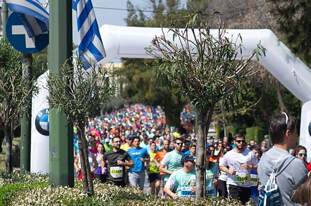 Athens Half Marathon event 2016 stock photo