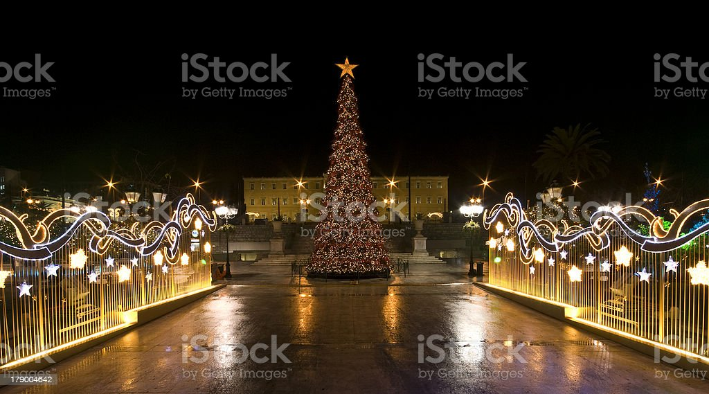 Athens in Christmas royalty-free stock photo