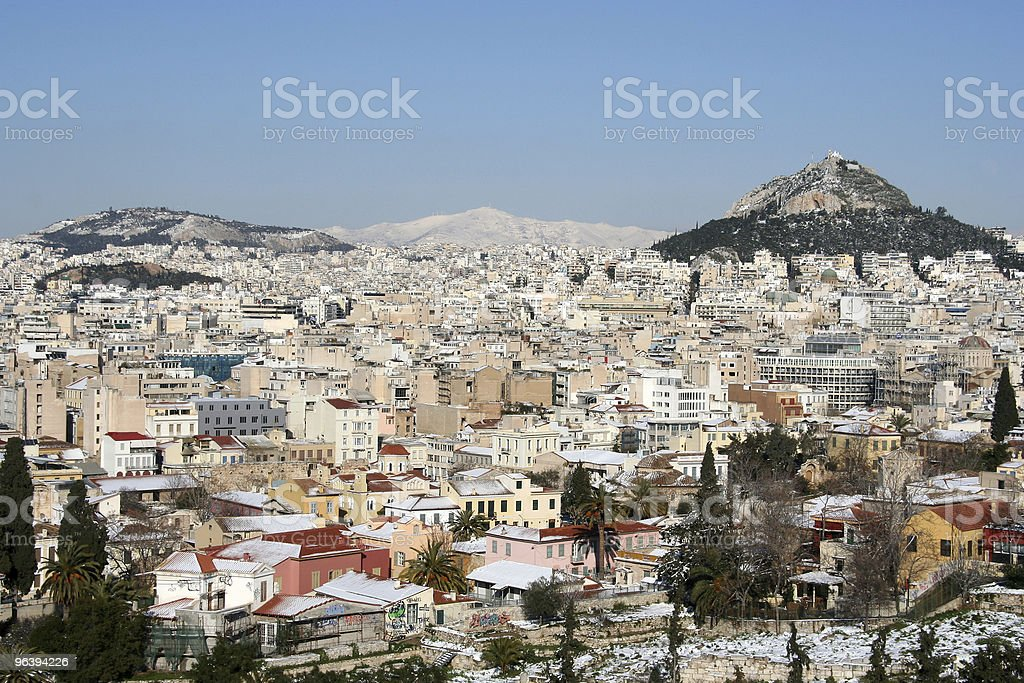 Athens in Winter - Royalty-free Ancient Stock Photo