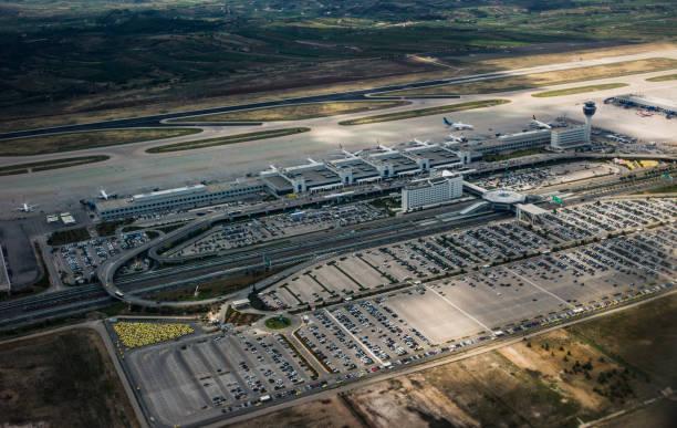 Athens International Venizelos Airport, Greece stock photo