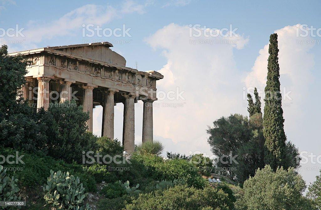 Athens Landmarks - Temple of Hephaestus stock photo