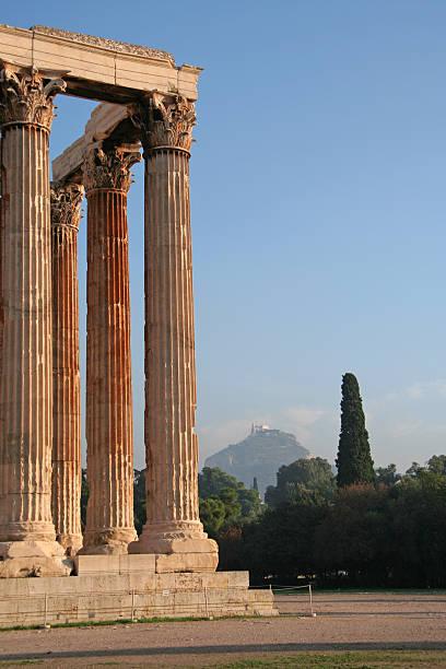 Athens Landmarks - Temple of Zeus stock photo