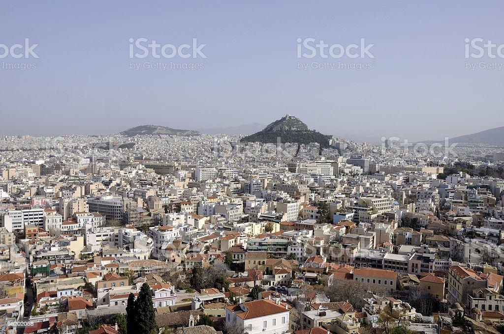 Athens skyline royalty-free stock photo