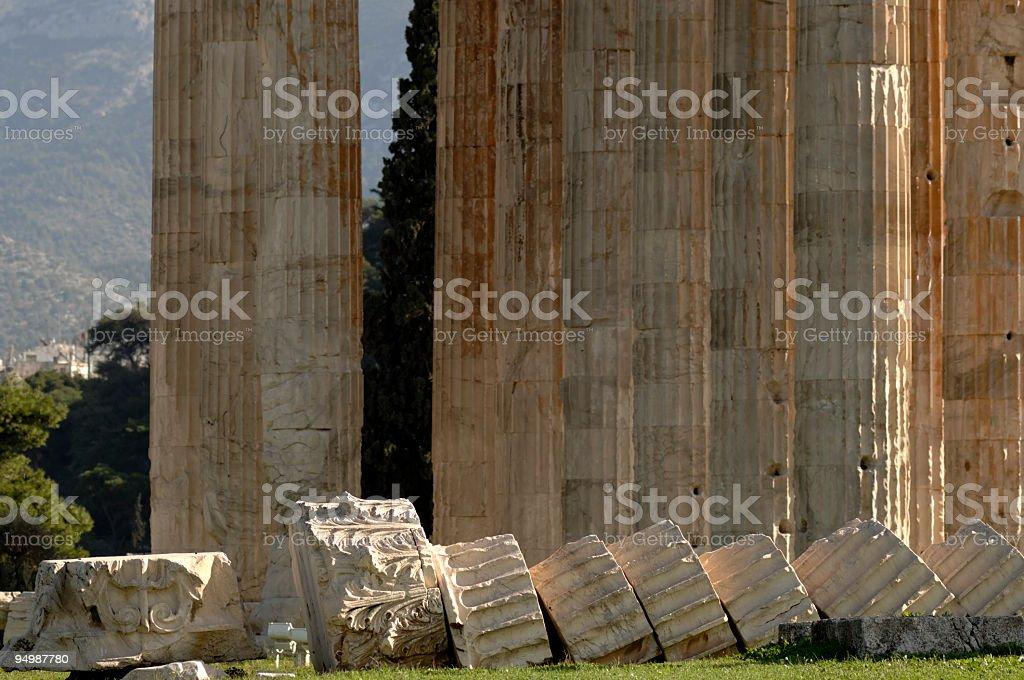 Athens, Temple of Olympian Zeus stock photo