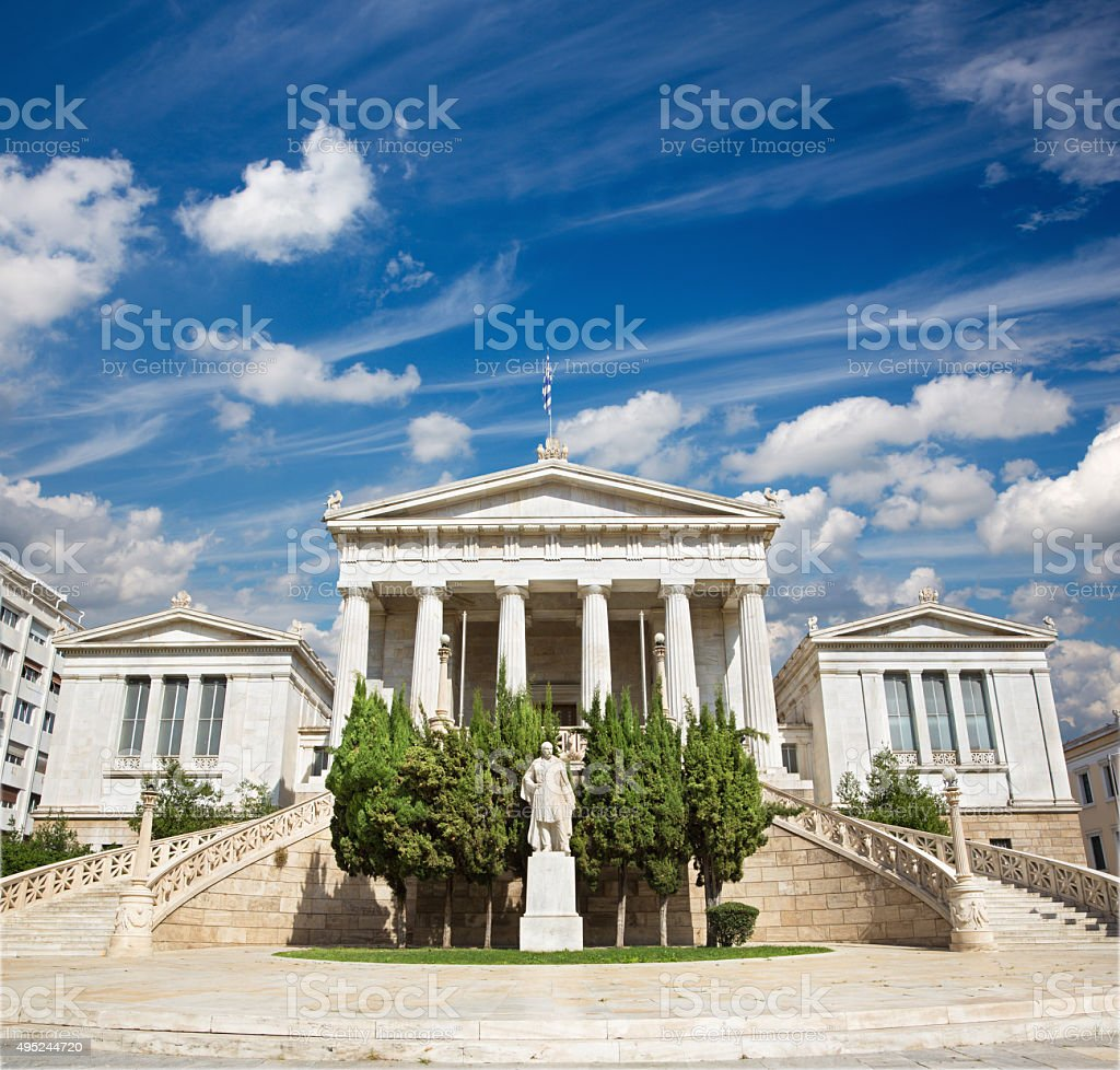 Athens - The National Library building stock photo