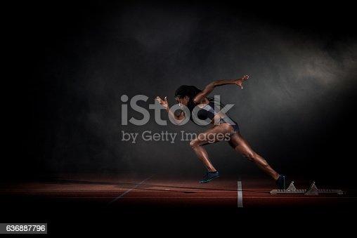 istock Athlete at starting line 636887796