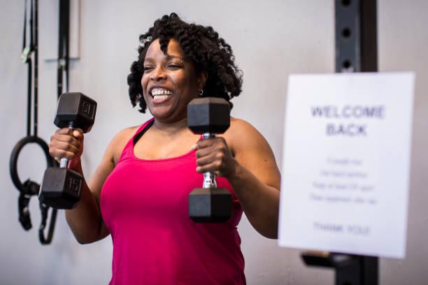 Athlete back at gym after coronavirus.