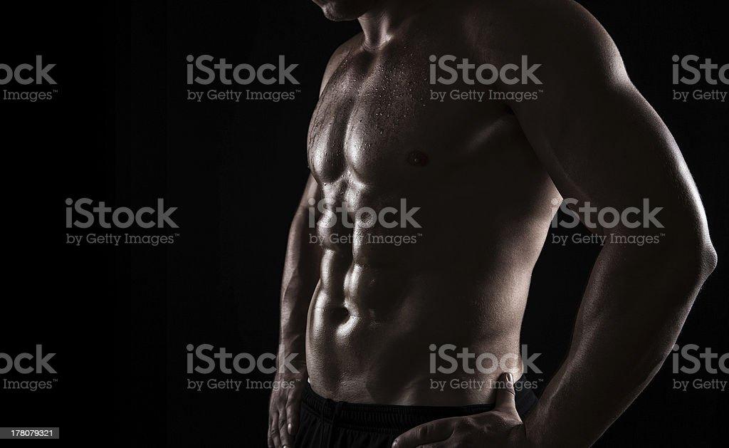 Atleta primer plano - Foto de stock de Abdomen libre de derechos