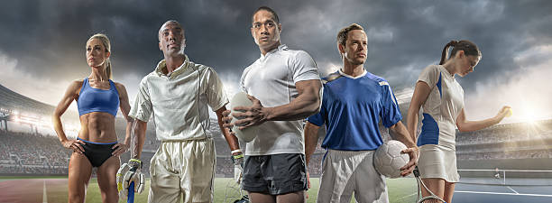 athlete, cricketer, rugby player, footballer and tennis player - athlete stock photos and pictures