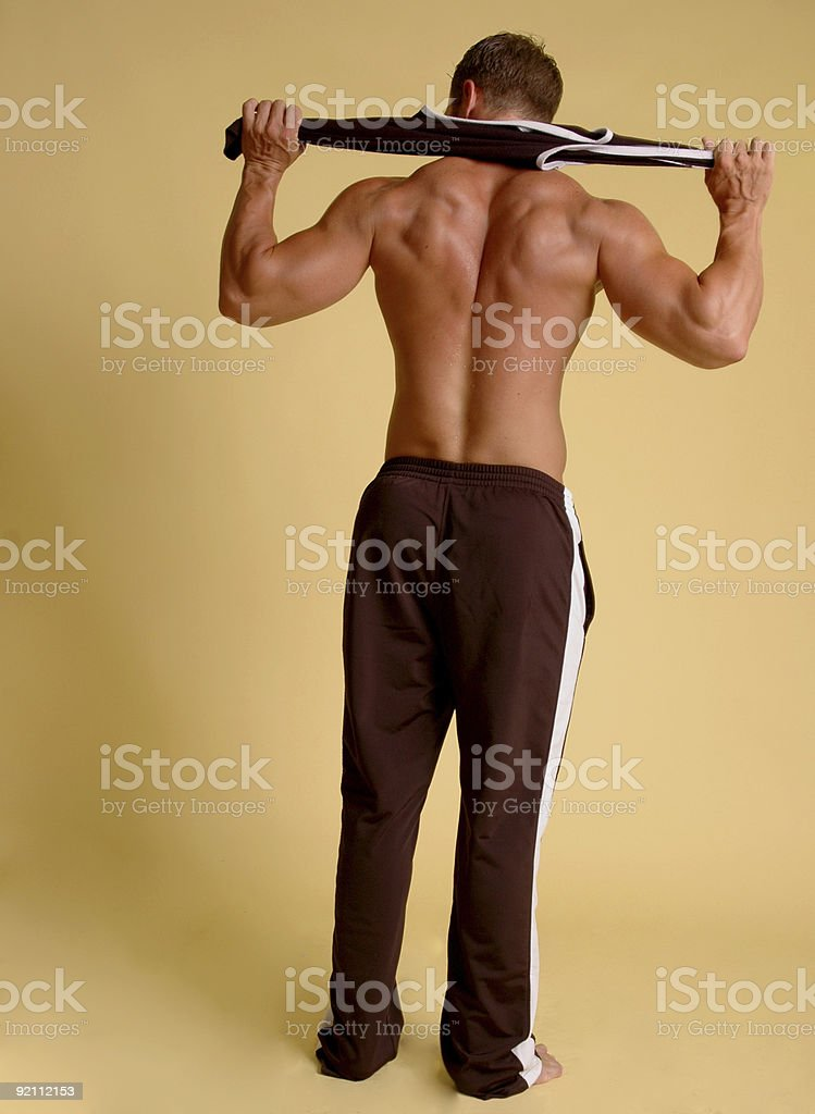 athlete from the back royalty-free stock photo