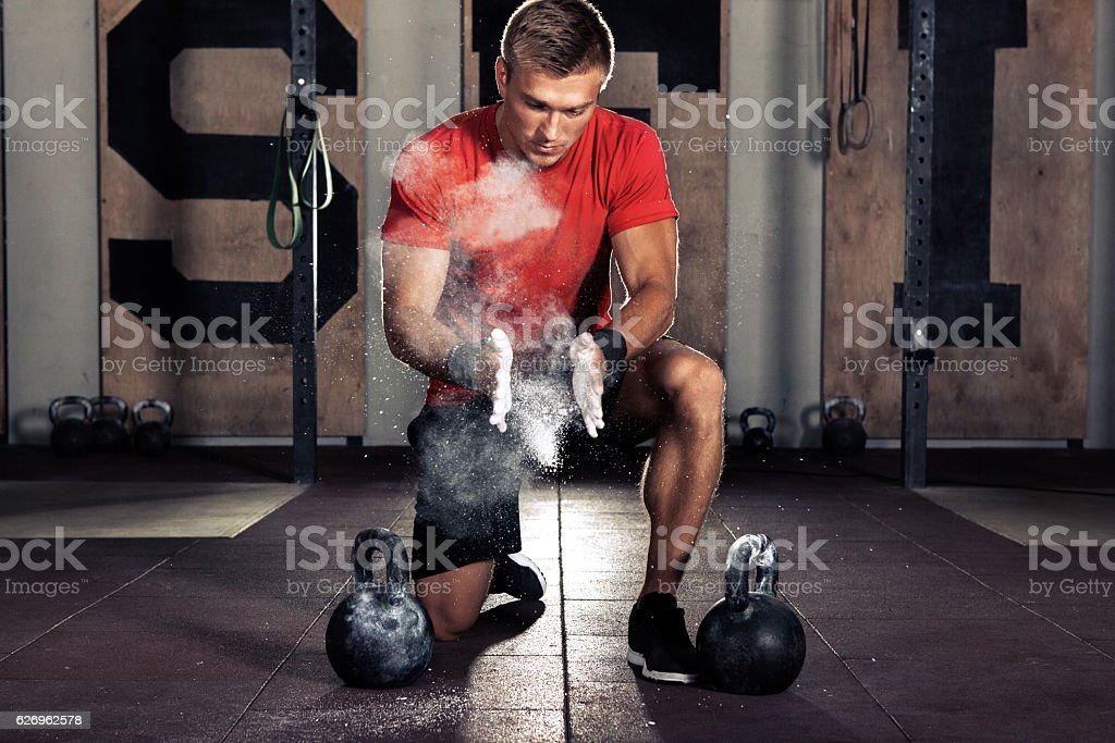 athlete getting ready for training – Foto