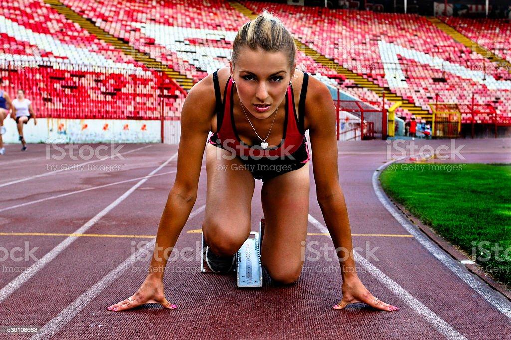 Athlete Girl stock photo