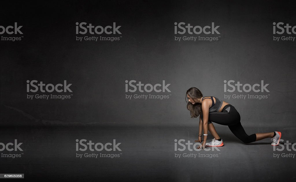 athlete made stretching stock photo