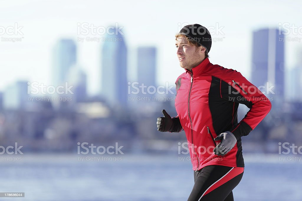 Athlete man running sport stock photo