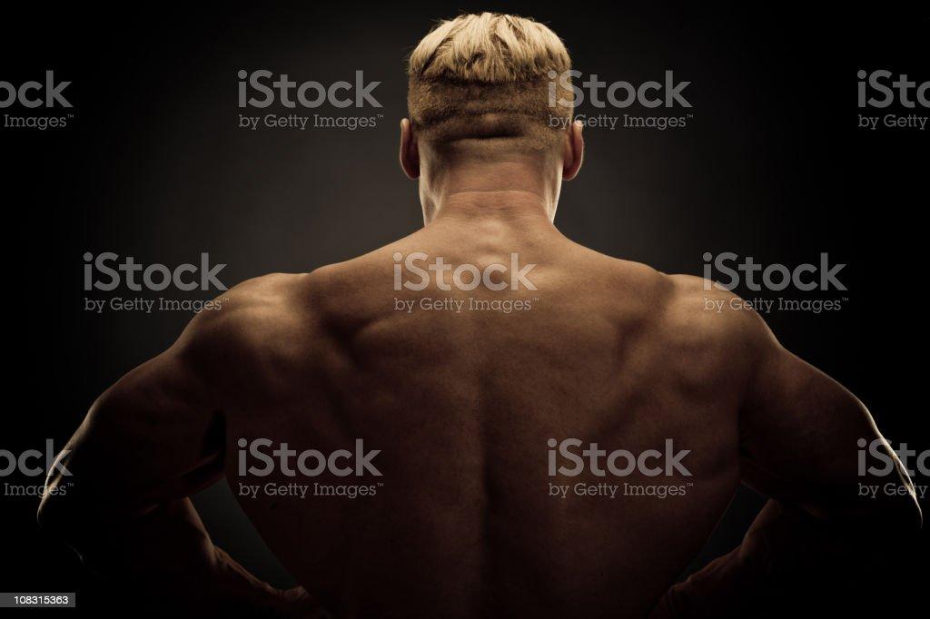 Athlete Rear view royalty-free stock photo
