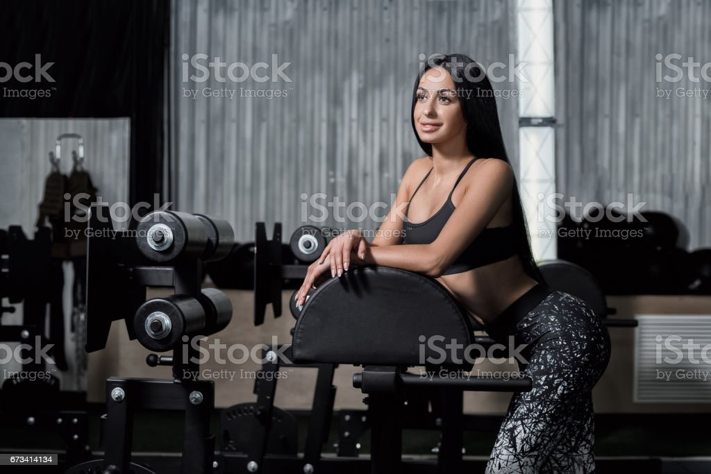 Athlete resting after a hard workout. stock photo