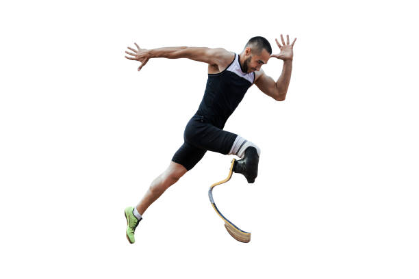 athlete runner disabled amputee stock photo