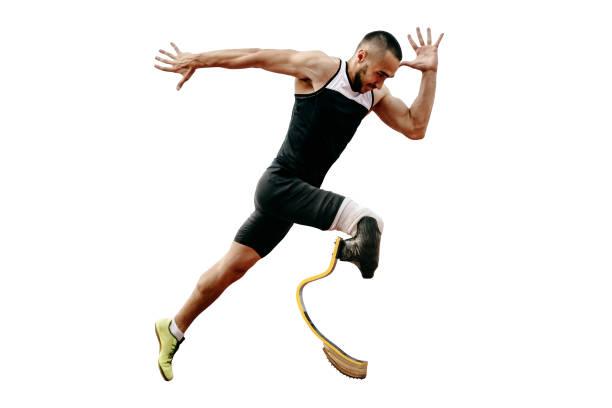 atleta corredor discapacitado amputado - foto de stock