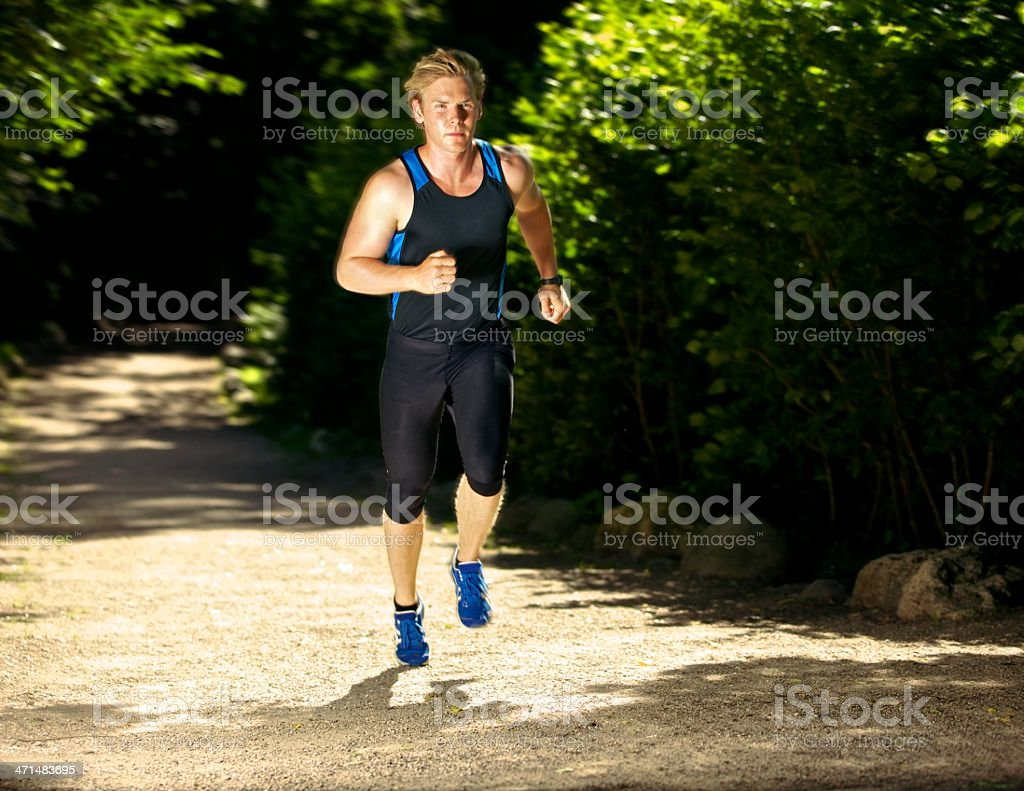 Athlete Running Fast royalty-free stock photo