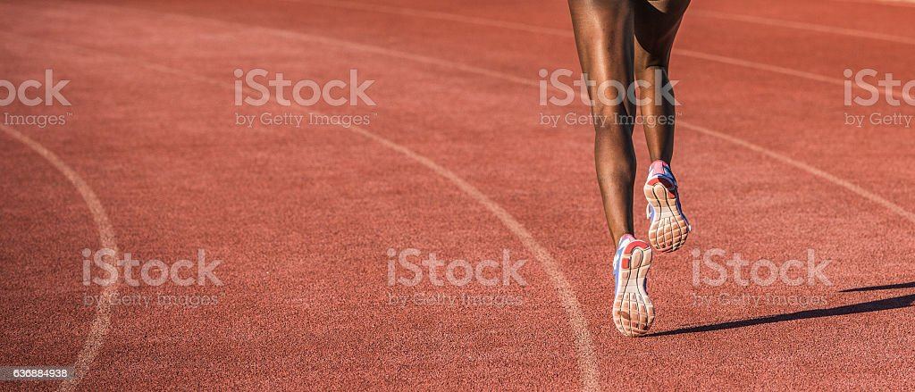 Atleta corriendo - foto de stock