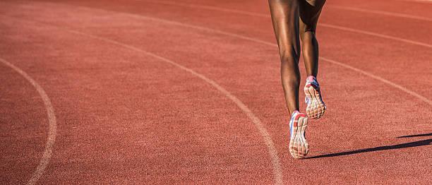 Athlete running stock photo