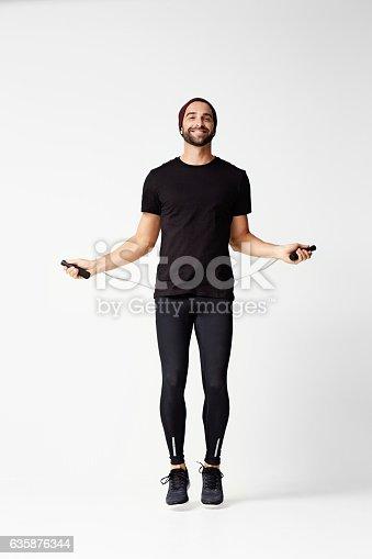 istock Athlete skipping 635876344