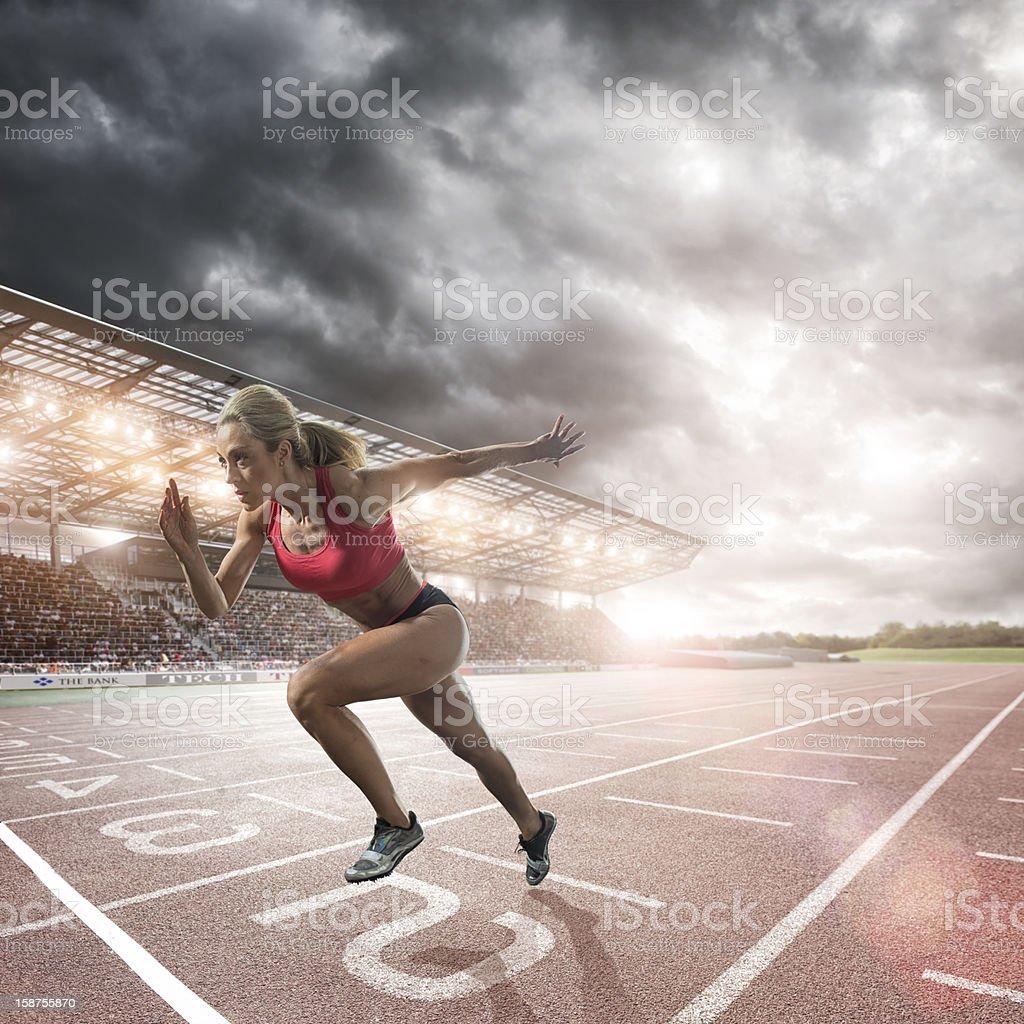 Athlete Sprint Start royalty-free stock photo