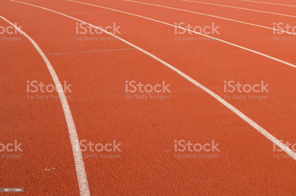 Athlete Track or Running Track with nice scenic Lizenzfreies stock-foto